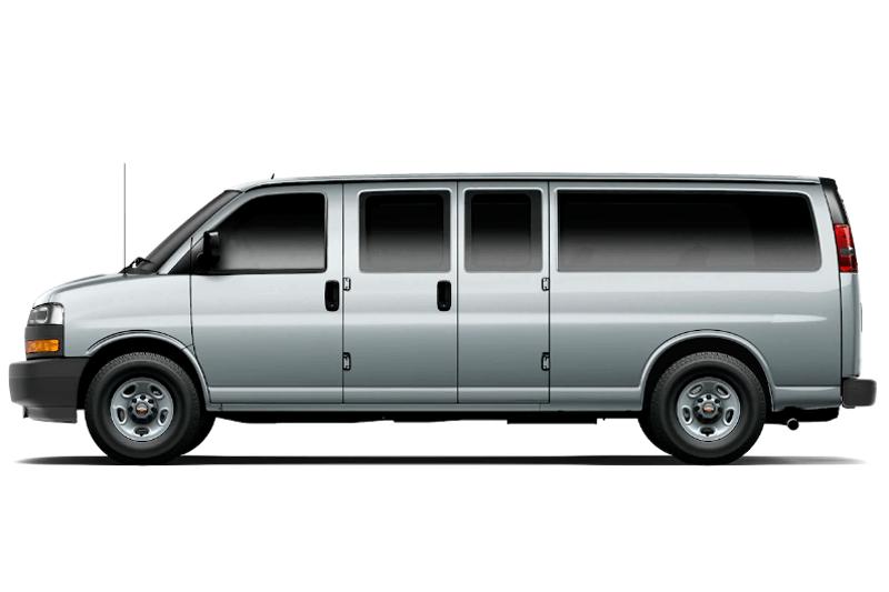 Renta en el eropuerto de cancun un Chevrolet Express Van 8 pax